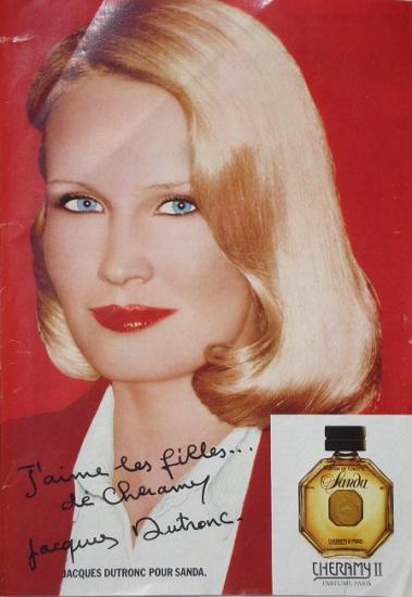 1978 pub parfum Cheramy, Sanda