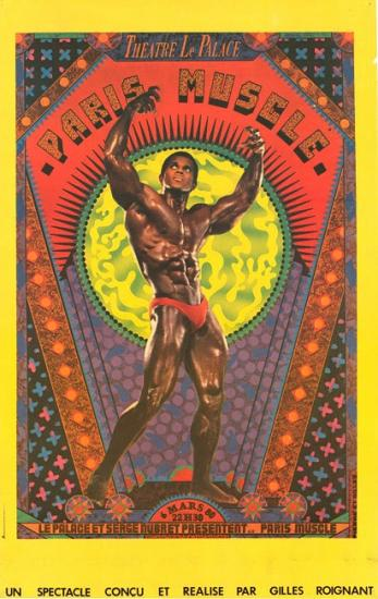 1980 affiche 'Paris Muscle' Le Palace, Paris