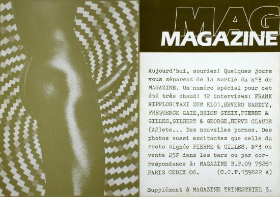 1980 pub pour Magazine n°3