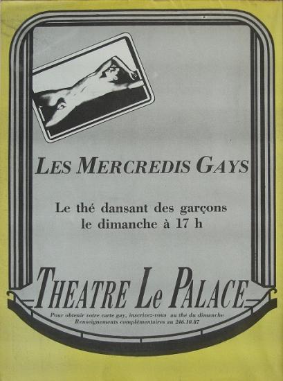 1981 pub pour Le Palace