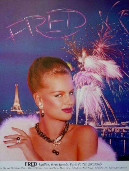 1981 publicité Fred joaillier, France