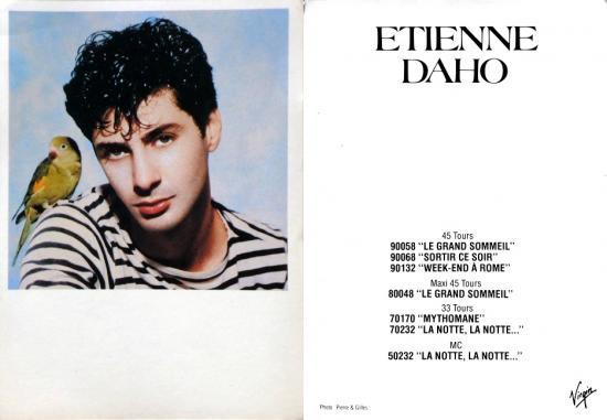 1983 cp promo Étienne Daho