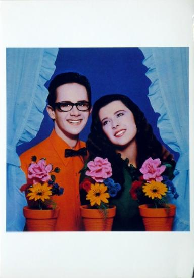 1985 cp 'A la fenêtre' Pascale et Grégory, New York