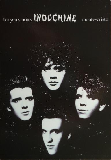 1986 carte promo Indochine 'Tes yeux noirs'
