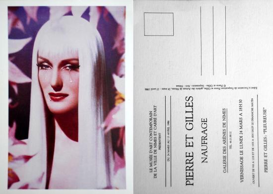 1986 carton vernissage expo Galerie des Arènes, Nîmes