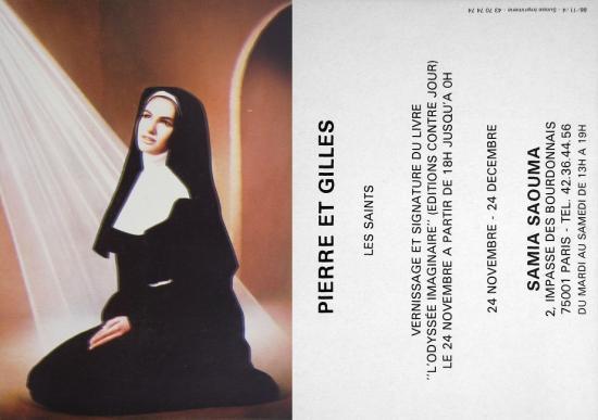 1988 carton vernissage expo galerie Samia Saouma, Paris