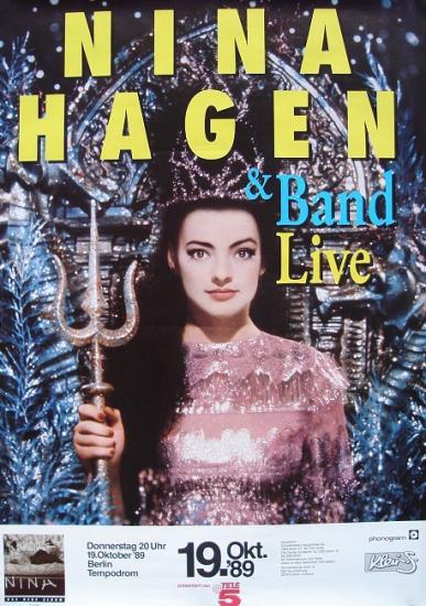 1989 affiche de la tournée de Nina Hagen