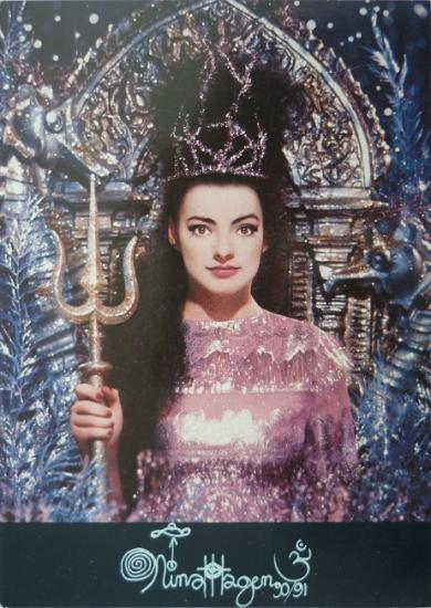 1990 carte promo Nina Hagen