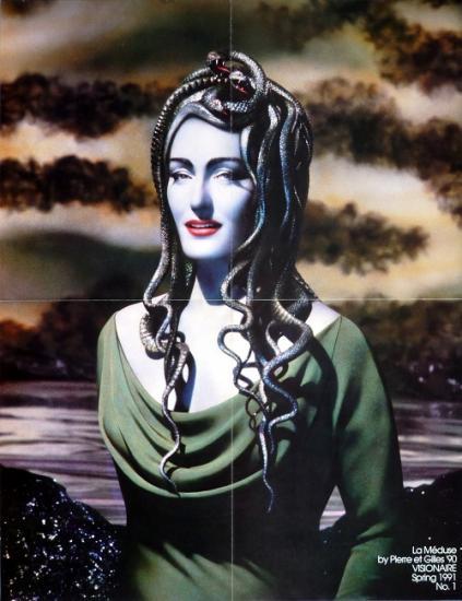 1990 'Méduse' Zuleika Ponsen, poster in Visionaire n°1, printemps 1991