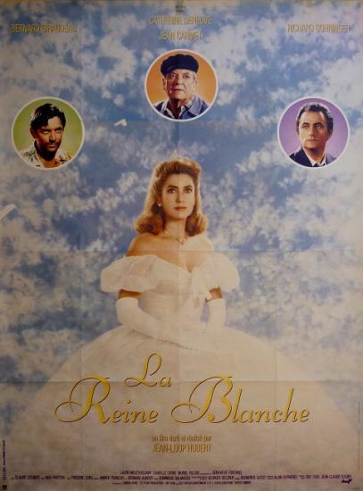 1991 grande affiche du film 'La reine blanche' de Jean-Loup Hubert
