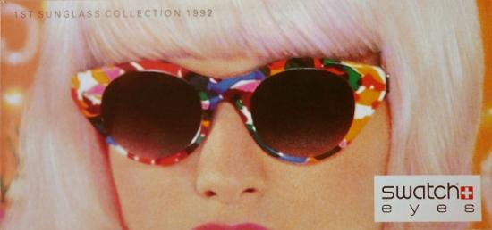 1992 catalogue Swatch eyes 1st sunglass collection