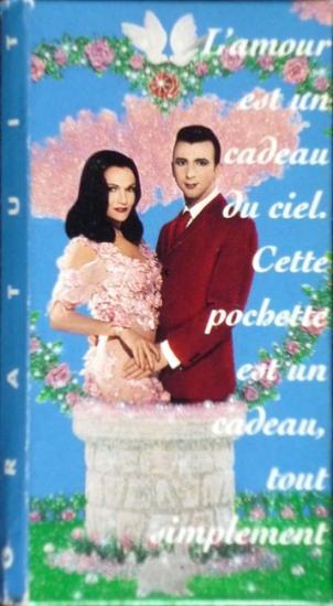 1992 étui présevatif 'L'amour est un cadeau du ciel...'