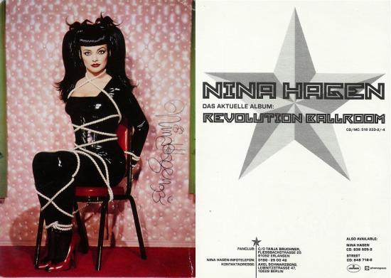 1993 cp promo 'Revolution ballroom' Nina Hagen