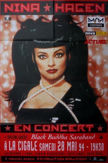 1994 aff concert  de Nina Hagen à La Cigale, Paris