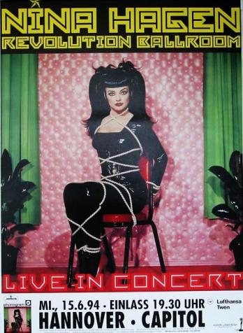 1994 affiche de la tournée de Nina Hagen