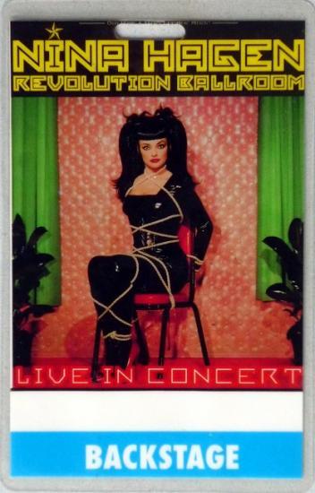 1994 pass Nina Hagen 'Rvolution ballroom live'