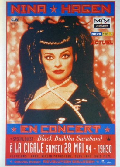1994 pub concert Nina Hagen à la Cigale, Paris