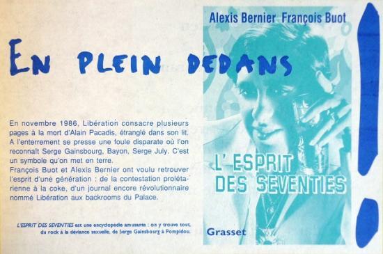 1994 pub livre 'L'esprit des seventies' A. Bernier et F. Buot