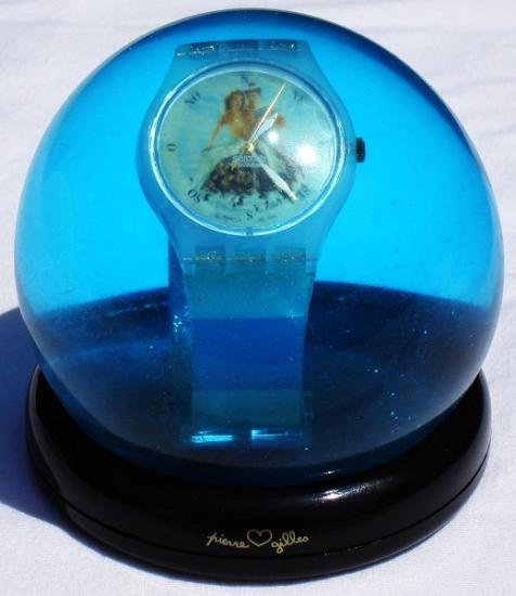 """Boule de neige montre Swatch """"La sirène et le marin"""", 1997,"""