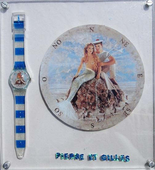 """Présentoir montre Swatch """"La sirène et le marin"""", 1997"""