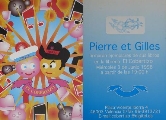 1998 carton pour séance de dédicaces à Valence