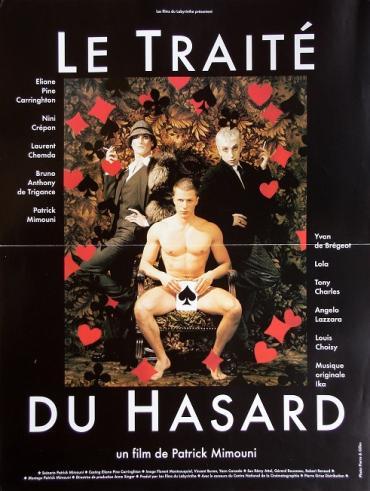 1998 petite affiche du film 'Le traîté du hasard' de Patrick Mimouni