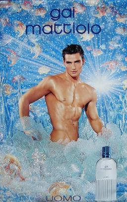 1998 affiche publicitaire pour le parfum de Gai Mattiolo: Uomo