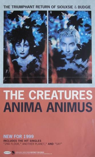 1999 affiche promo pour l'album de The Creatures: Anima animus
