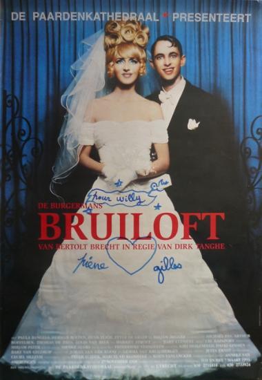1998 petite aff signée 'De burgermans Bruiloft' Nederland
