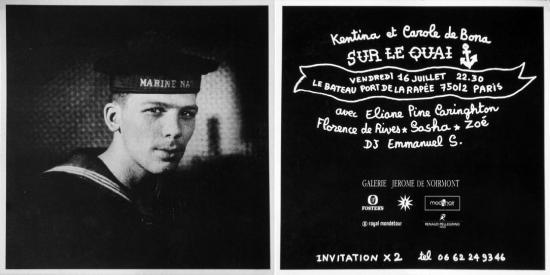 1999 cart soirée 'Sur le quai' Paris