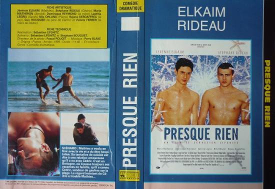 2000 jaquette film 'Presque rien' de Sébastien Lifshitz