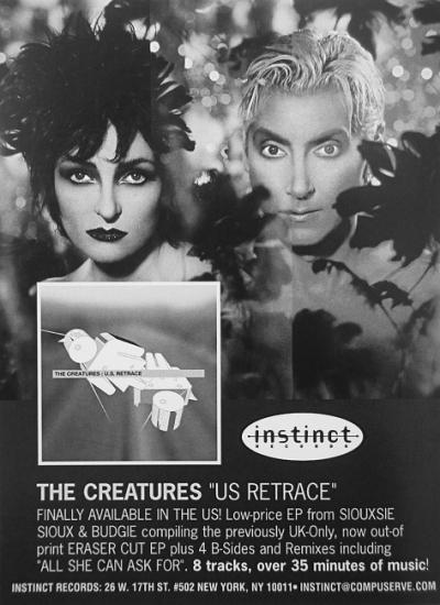 1999 pub promo de The Creatures