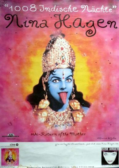 2000 affiche '1008 Indische nächte' Nina Hagen