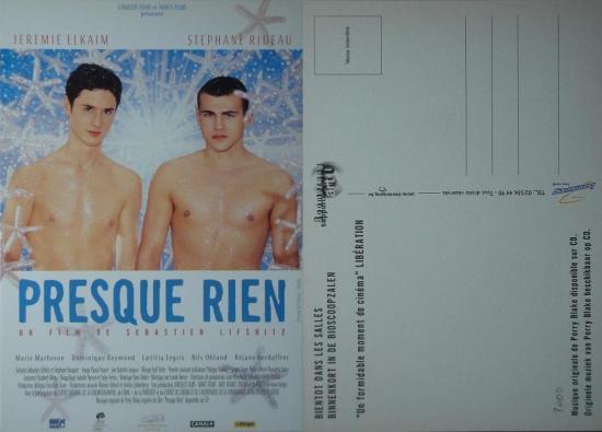 2000 carte promo Presque rien, Sébastien Lifshitz, Belgique