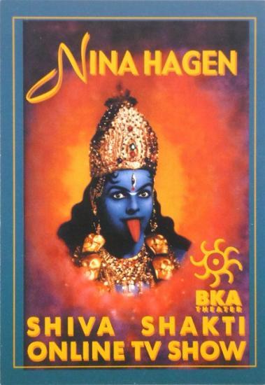 2000 flyer Nina Hagen 'Shiva Shakti online TV show' Berlin