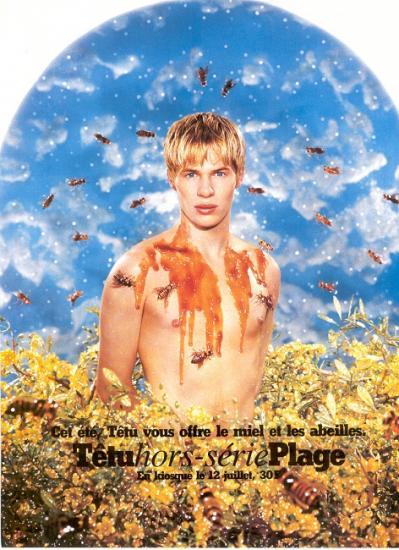 2000 pub magazine Têtu plage