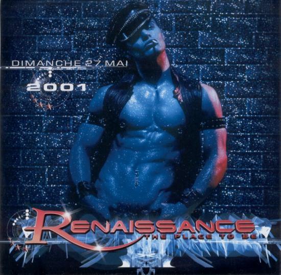 2001 flyer soirée Renaissance, Paris