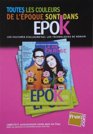 2001 carte promo Epok, Fnac