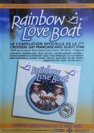 2001 pub disque Rainbow Love Boat