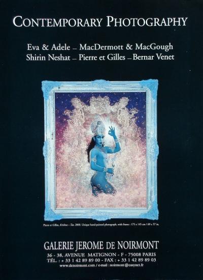 2001 publicité pour la galerie Jérôme de Noirmont