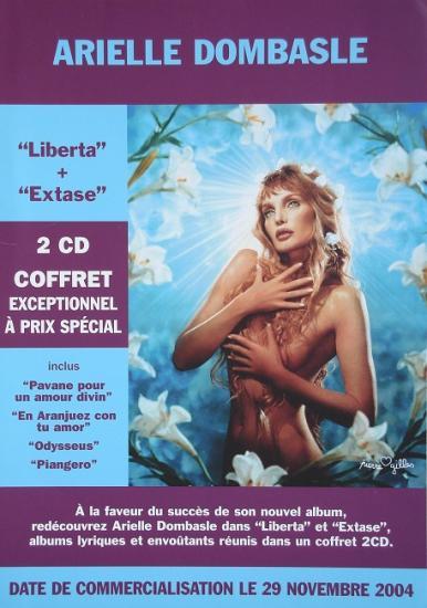 2004 plaquette coffret Liberta+Extase, Arielle Dombasle