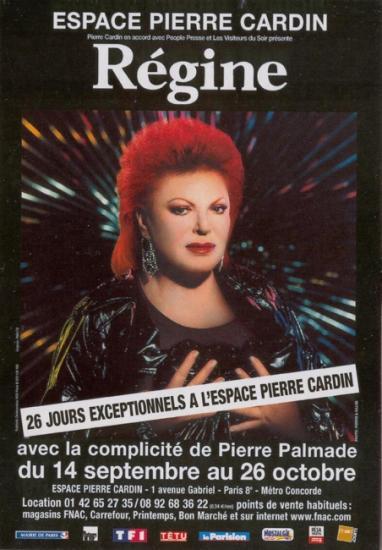 2004 carte Régine à l'Espace Pierre Cardin