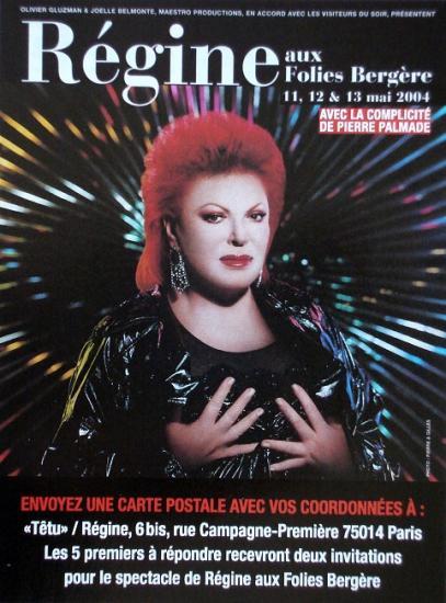 2004 Régine aux Folies Bergère