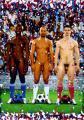 2006 cp 'Vive la France' Serge, Moussa et Robert, Autriche 2012