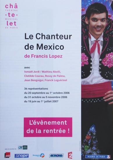 2006 plaquette Le chanteur de Mexico