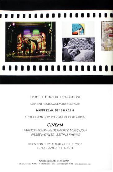 2007 cart expo 'Cinéma' gal de Noirmont, Paris