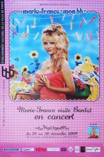 2009 affiche de concert de Marie-France