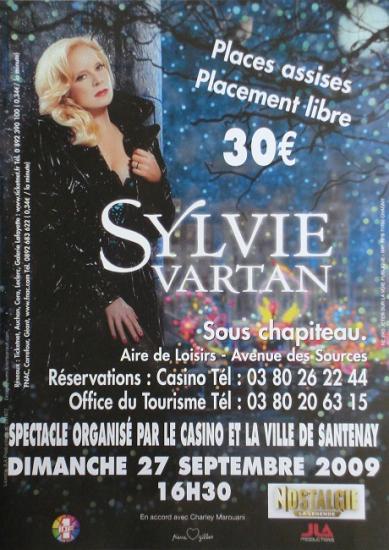 2009 flyer Sylvie Vartan, Santenay