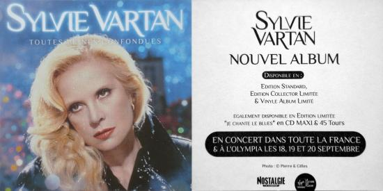 2009 autocollant promo, Sylvie Vartan