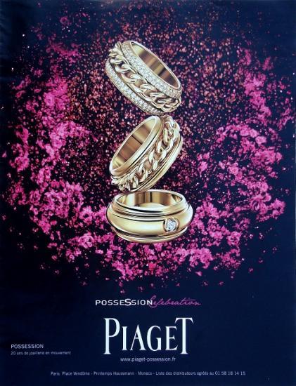 2009 publicité montres et bijoux Piaget